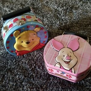 Set of 2 Winnie/Piglet tins or lunch boxes